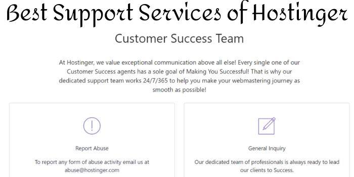 Hostinger Contact Support Services